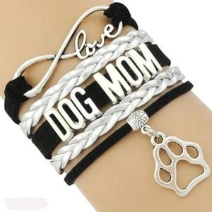 NEW Multi Strand Dog Mom Bracelet Black